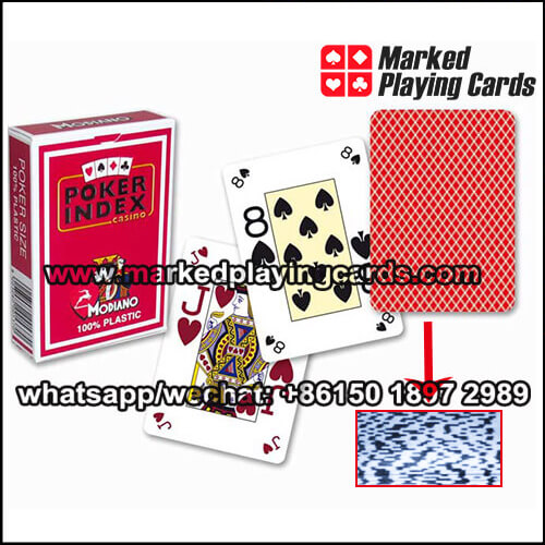 modiano barcode marked deck of cards
